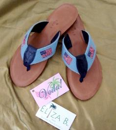 6b3a1d75d47b Almond Rubber Sole Thong with. BSK 105 Flamingos on Green Belt